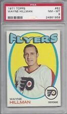 1971 Topps NHL hockey card #62 Wayne Hillman, Philadelphia Flyers PSA 8 NMMT