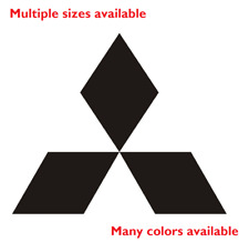 Mitsubishi Die Cut Decal | Emblem logo center cap stickers