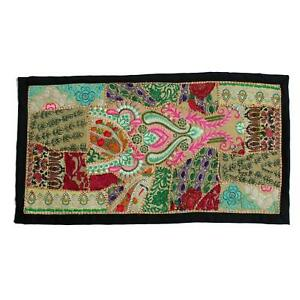 Vintage Embroidered Patchwork Indian Boho Hippie Bohemian Tapestry Wall Hanging
