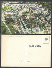 Old South Carolina Postcard - Columbia - Airplane View of 5 Points District