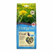 Burgess Excel Country Garden Herbs Food Natural Treat for Rabbit Guinea Pig 120g