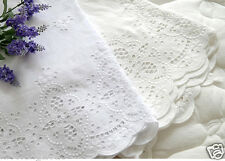 "Broderie Anglaise cotton eyelet lace Fabric 5.4""(136cm)-By the Yard yh1519"