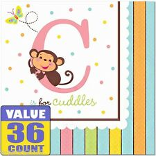 BABY SHOWER FISHER PRICE ABC LARGE NAPKINS (36) ~ Birthday Party Supplies Lunch