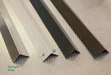 1.00 m Aluwinkel, Winkelblech, Blechwinkel aus Aluminium natur und farbig