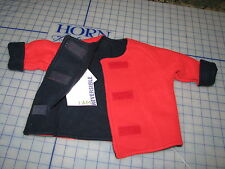 baby infant turtle fur fleece grow coat jacket reversible blue red SMALL