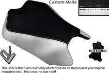 WHITE & BLACK CUSTOM FITS APRILIA TUONO V4 V4R APRC 1000 11-13 FRONT SEAT COVER
