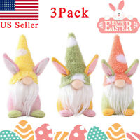 3 Pack 2021 Easter Bunny Gnome Rabbit Plush Toys Doll Ornaments Toys for Kids