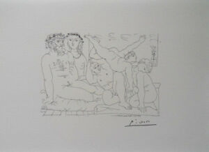 Pablo Picasso(After) : the Acrobats - Lithography Signed #1200ex