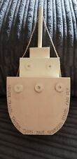 EAST OF INDIA SHABBY CHIC WOODEN LARGE STANDING TUG BOAT CHRISTENING  GIFT ANGEL