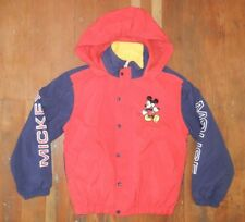 MICKEY MOUSE Disney Land Warm WINTER JACKET Fleece Lined Coat Sz Kid YOUTH LARGE