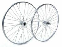 Tru-build Rear Wheels 26 x 1.75 Alloy hub Silver screw on Silver 26 inch