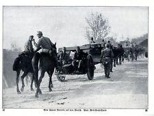 Eine schwere Batterie auf dem Marsch Historische Aufnahme von 1915