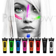 PAINTGLOW UV NEON luminosi viso & corpo pittura (8 CONF.) Costume Viso Pittura MAKE-UP
