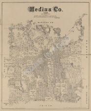 Map of Medina County TX c1879 repro 22x26