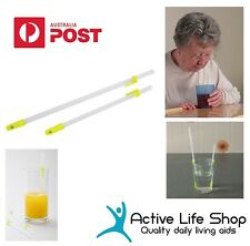 """One way Drinking Straws Pat Saunder straw with cup clips 10""""/ 7"""" Disability Aids"""