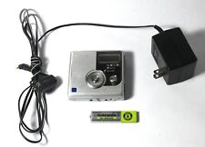 SONY MZ-NH900 Silver Minidisc Player w/ Adapter & Rechargeable Battery - TESTED