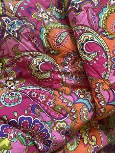 Vera Bradley Pink Swirls Twin Comforter Paisley