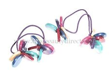 2 x COLOURFUL BEADS HEARTS HAIRBANDS RAINBOWS HAIR ACCESSORIES ELASTICS SEE SHOP