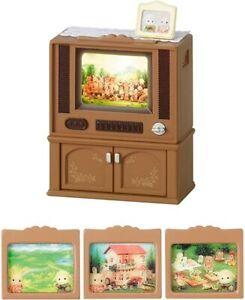 Sylvanian Families Calico Critters Ka-516 LIVING TV Set JAPAN Import