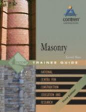 Masonry Level 2 Trainee Guide, Paperback (3rd Edition), NCCER, Good Book