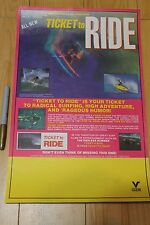 Ticket To Ride - Tom Curren Carroll 11x17in. O.G. 1987 Surfing Film Poster