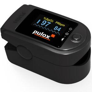 Finger-Pulsoximeter PULOX PO-200 Solo schwarz mit großem drehbaren Display