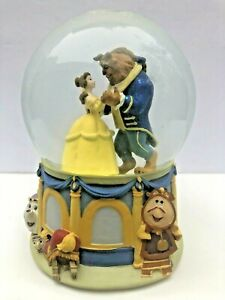 Beauty And The Beast Musical Snow Globe 1991 Collectible Disney Enesco Rare