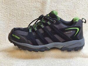 Karrimor Waterproof mens walking shoes Black/Green UK 8 EUR 42 US 9