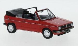 IXO CLC353 VW GOLF Cabriolet diecast model road car red body 1981 1:43rd scale