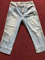 Lena Women's Cropped Embellished Jeans Size 8