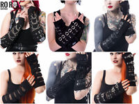 Poizen Industries Riot Shadow Buckle Armwarmers Arm Warmers Punk Gothic Gloves