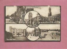Used Vintage Postcard - Six Views Of Pontefract