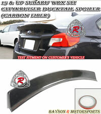 CityKruiser Rear Trunk Spoiler Wing (Carbon) Fits 15-18 Subaru WRX STi 4dr Sedan