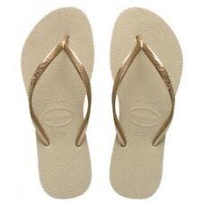 Havaianas Slim Brazil Women's Flip Flops Sand Grey UK- 5 EUR- 39/40
