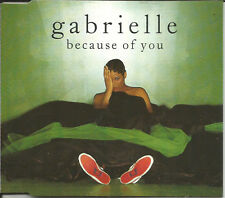 GABRIELLE Because of you 6TRX MIXES &DUB & 7 INCH trk CD Single SEALED USA seler