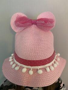 Bnwt Girls Summer Minnie Mouse Hat