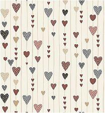 coupon de tissu patchwork Stof Guirlandes de coeurs 45x55cm