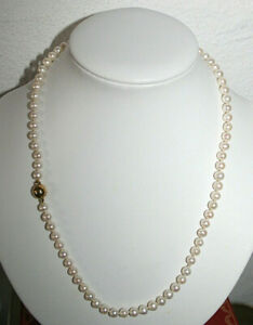 LANGER AUSTRIA - edle Zucht-Perlenkette - 925 Sterling-Silber/Gold Verschluß !