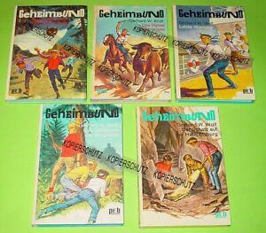 5 x GEHEIMBUND - BÜCHER / GERHARD W. WOLF / PEB ENGELBERT /alle KLAUS DILL COVER