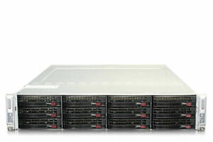 Supermicro SuperServer 6028TR-DTR 2-Node Server X10DRT-H 4x E5-2660v3 128GB Ram