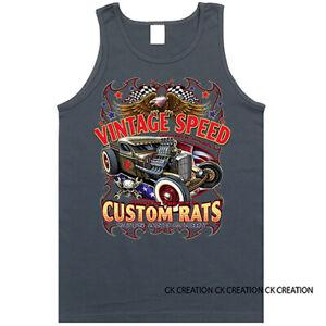 Vintage Speed Custom Rats Graphic Tank Top
