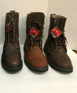 """MEN'S ROUND SOFT TOE GENUINE LEATHER 8"""" LACE UP WORK BOOTS Free Shipping!3colors"""