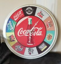 Vtg CLOCK Steak N Shake Serving Tray - Coca Cola Sprite Barq's Hi-C Surge Coke
