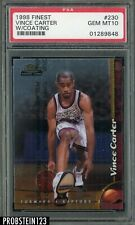 1998-99 Topps Finest #230 Vince Carter Raptors RC Rookie w/ Coating PSA 10