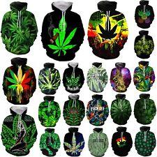 Weed leaf 3D Print Womens/Men's Hoodie Sweatshirt Pullover tops Jumper Plus size