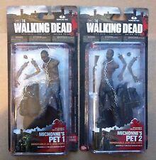 """WALKING DEAD TV SERIES 3 MICHONNE'S PETS 1 & 2 SET 5"""" ACTION FIGURES NEW PET AMC"""
