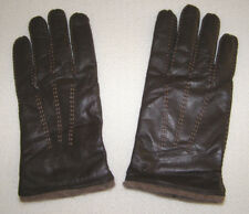VINT. TIMBERLAND LEATHER GLOVES- LINED w/WOOL+RABBIT HAIR BLEND- HAND-STITCH-NEW