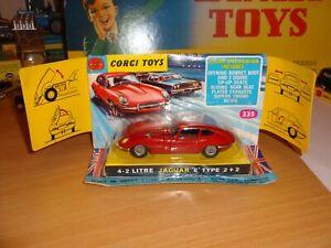 """Corgi Toys 335 Jaguar """"E"""" Type"""