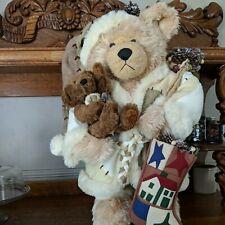 """1999 Grandeur Noel Le Collector's Edition 31"""" Collectible Bear Christmas Vintage"""