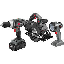 Porter Cable 18 Volt NiCad Drill Flashlight Saw 3Piece Cordless Tool ComboKit